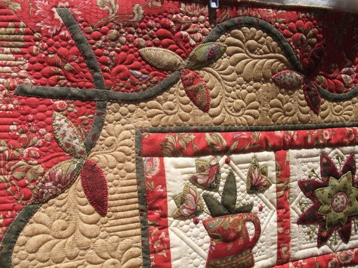 50 best Quilting-around appliqué images on Pinterest | Quilting ... : machine quilting around applique - Adamdwight.com