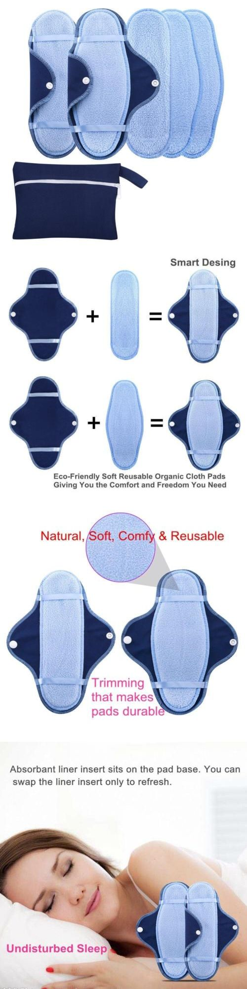 Pantiliners: Reusable Natural Sanitary Napkins,Cotton Cloth Menstrual Maxi Pads Sets 2... -> BUY IT NOW ONLY: $37.26 on eBay!