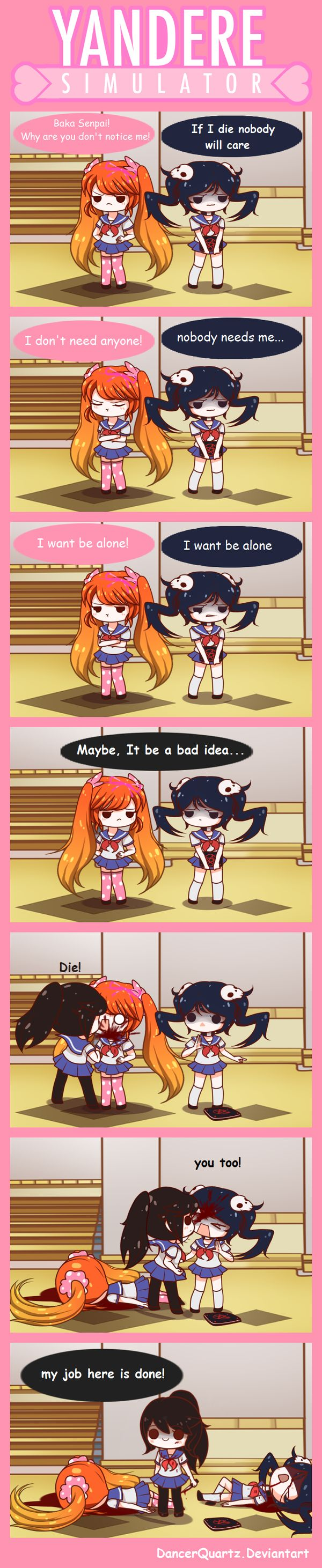 Yandere Comic - solution by DancerQuartz on DeviantArt