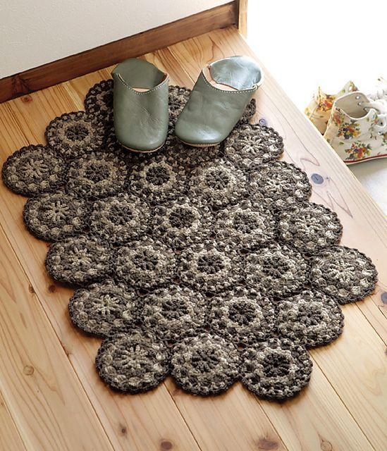 alfombra crochet. patron gratis