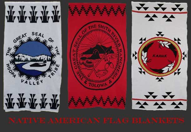 Indian Knit Flag Blankets From The Hoopa Tolowa And