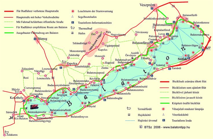 Map of the Balaton
