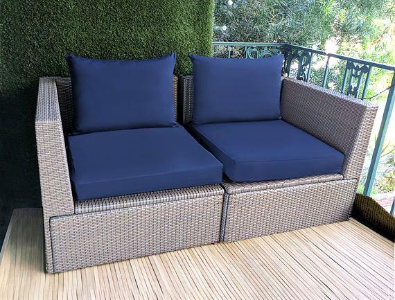 Sale Navy Canvas Ikea Hallo Slip Cover Ikea Cushion Covers