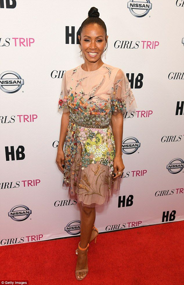 Stepping out in style... Jada Pinkett Smith looked gorgeous when she stepped out for the p...