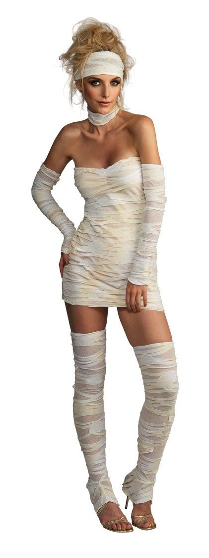 Amazon.com: Rubie's Costume Women's Adult Mummy Costume, Whites, Standard: Adult Sized Costumes: Clothing