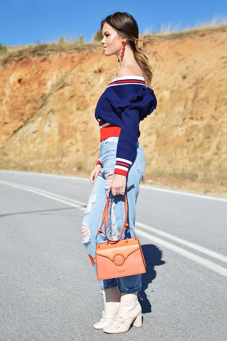 Orange Bag on Shiny Honey by Tamara Bellis Fashion and Lifestyle Blogger