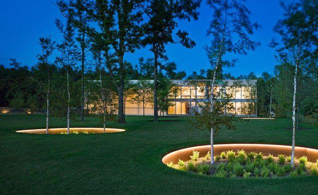 recessed light conversion kit Landscape Contemporary with birch tree cor-ten steel corten horizontal landscape lighting lighting