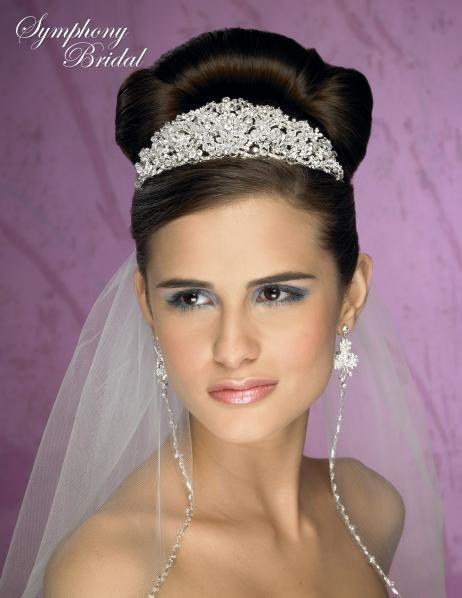 Symphony Bridal Tiara Crown Regal Headpiece