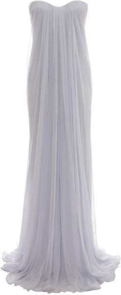 Draped Bustier Gown - Lyst - Would need to add something to make it modest, but so pretty!