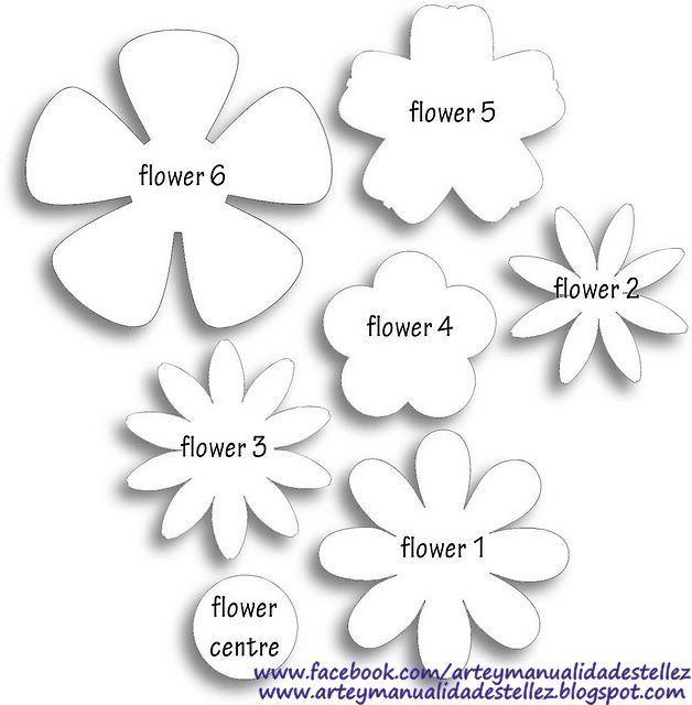 Resultado de imagen de plantillas flores goma eva