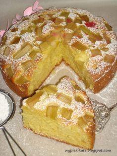 Wypieki Kate: Ciasto ucierane z rabarbarem - szybkie i łatwe
