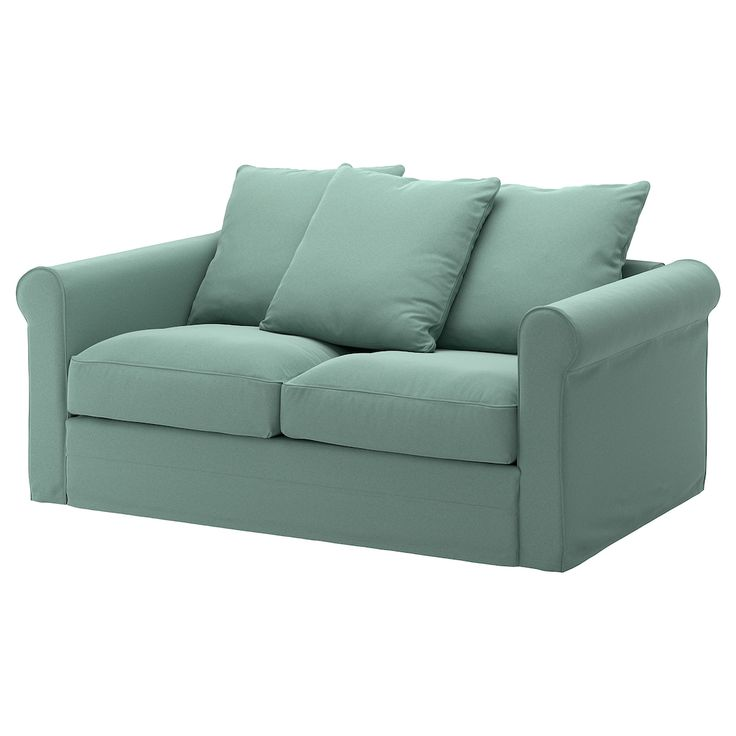 GRÖNLID Loveseat - Ljungen light green in 2020 | Sleeper ...