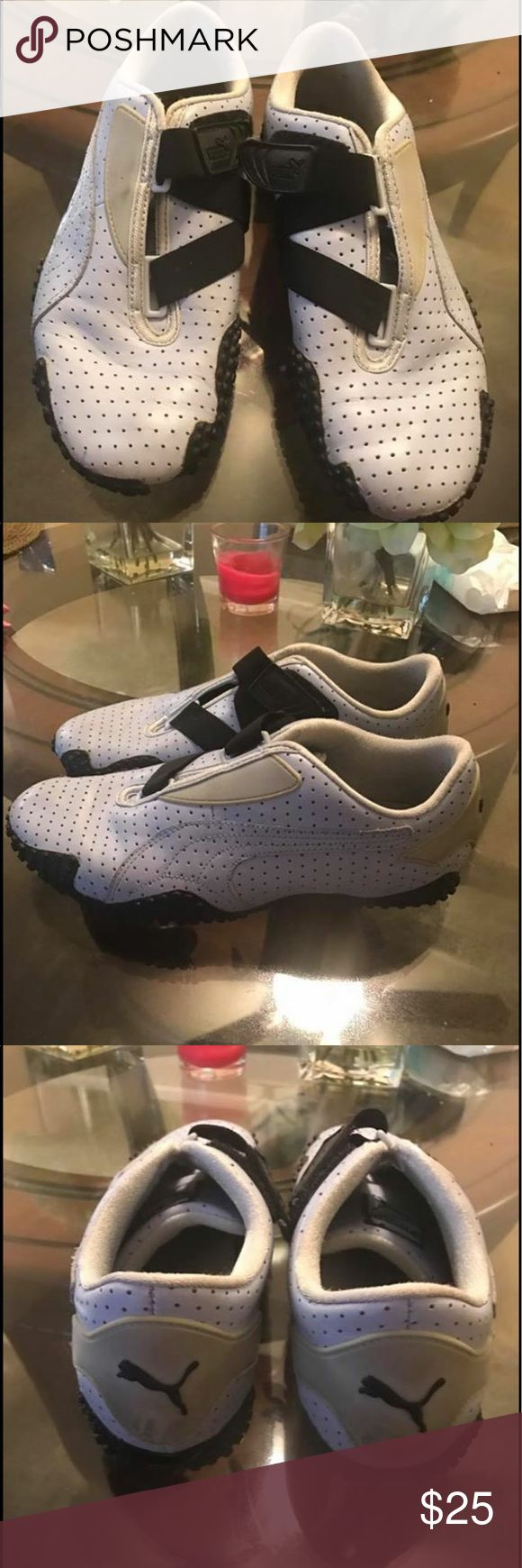 Puma Sneakers Great clean condition TV $50 color is between sky blue and grey Shoes Sneakers