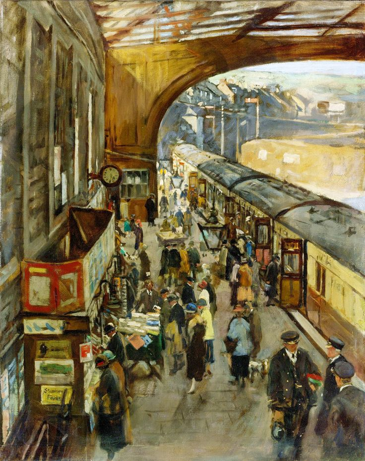 """The Terminus, Penzance station"" by Alexander Forbes Stanhope"