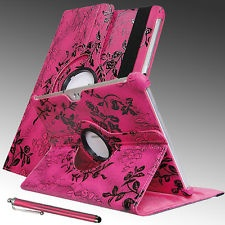 Samsung Galaxy Tab2 10.1 GT-P5113 ROSE PINK PU Leather Case W/ Stand + STYLUS