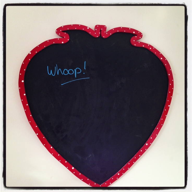 Strawberry Chalk Board - Made from scratch