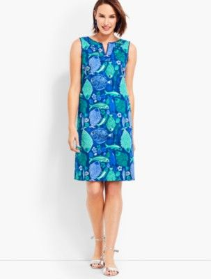 2d5f17c4a6cf Talbots: Under the Sea Textured Shift Dress | Products in 2019 ...