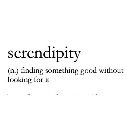 Serendipity, one of my favorite words