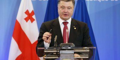 Petro Poroşenko a ordonat forţelor ucrainene să înceteze focul în regiunile Doneţk şi Lugansk