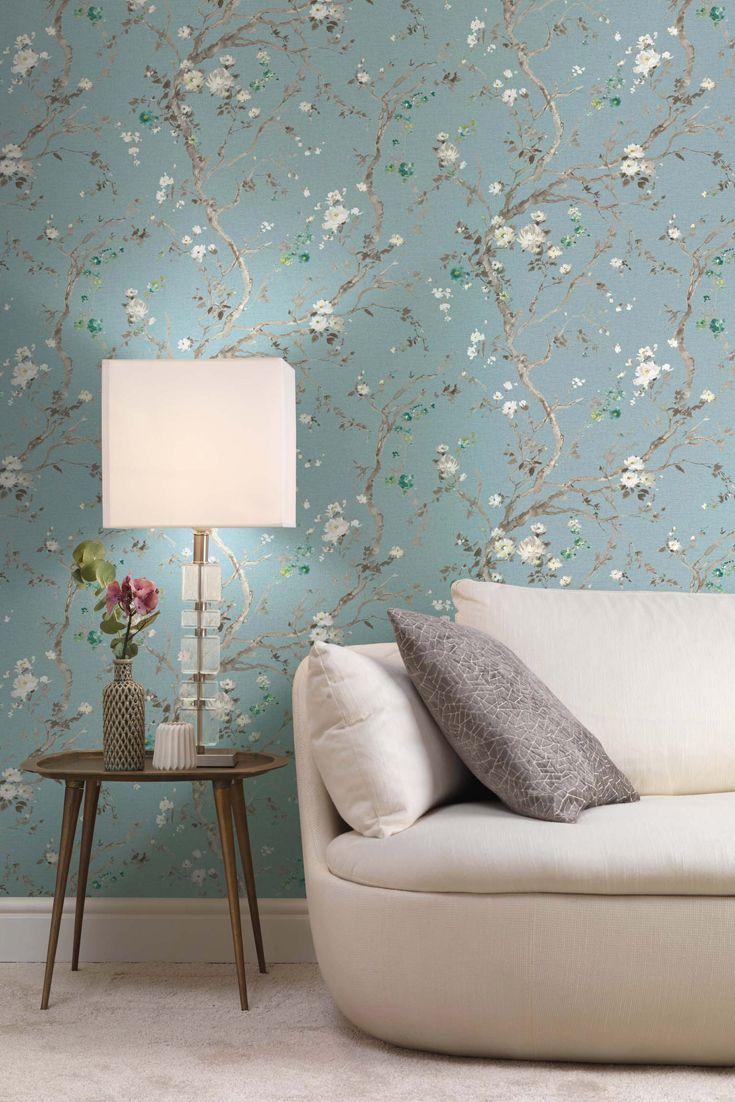 Tapete Alenia Blau Haus Deko Tapeten Wand Dekor