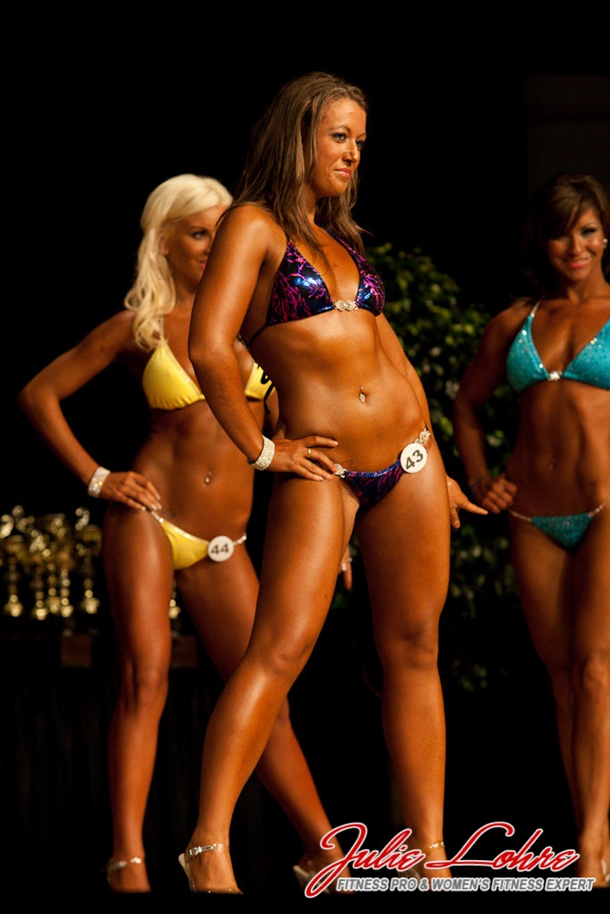 My first time on stage as an NPC Bikini competitor. One of the best experiences ever!