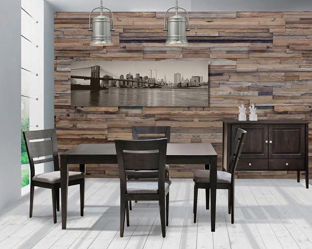 ce mobilier de salle manger en merisier massif au style contemporain s harmonise tous les. Black Bedroom Furniture Sets. Home Design Ideas