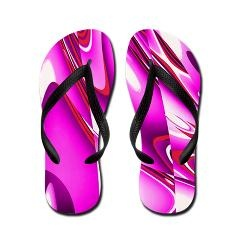 Hot Pink Abstract Flip Flops > Flip Flop Shop > The Art Studio by Mark Moore