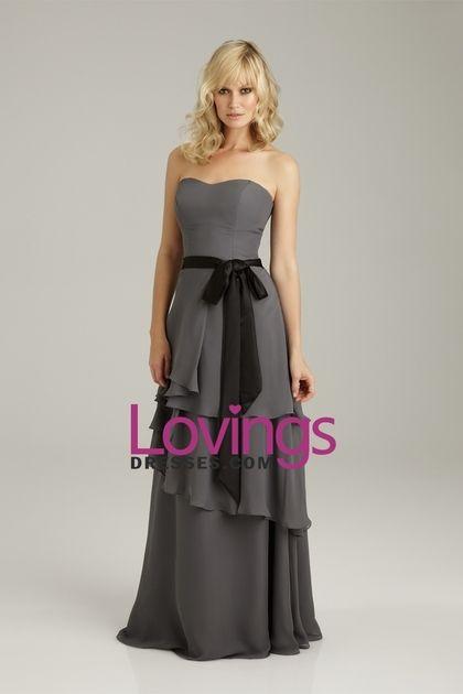 2013 Bridesmaid Dresses A Line Floor Length Chiffon With Sash