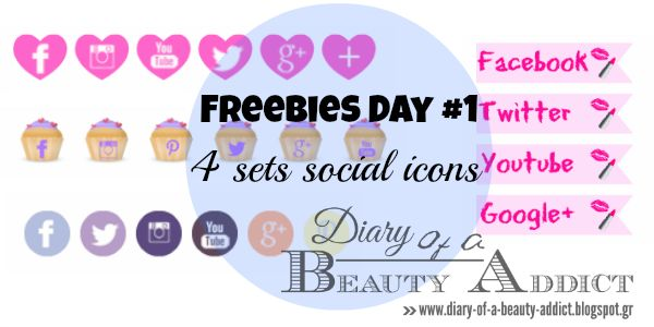 """I added """" Freebies Day #1: 4 sets social icons"""" to an #inlinkz linkup!http://diary-of-a-beauty-addict.blogspot.gr/2014/06/freebies-day-1-4-sets-social-icons.html"""