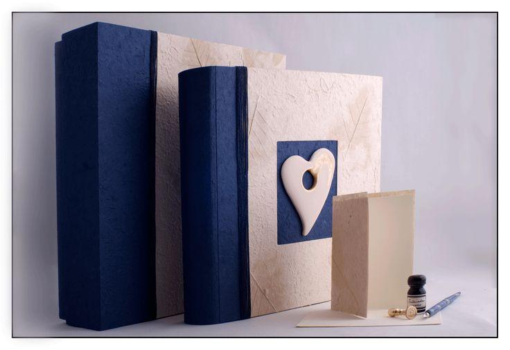 Album matrimonio 35 x 35 in carta gelso e tessuto