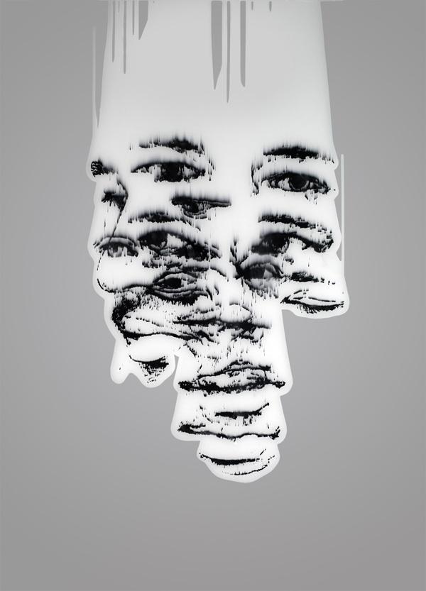 Blur portraits by Beniamin Papyan, via Behance