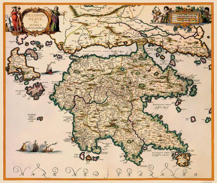 Peloponnese region Greece - JAN JANSSON 1654