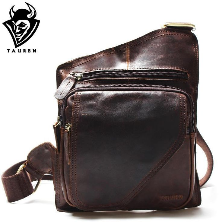 New High Quality Vintage Casual Crazy Horse Leather Genuine Cowhide Men Chest Bag Small Messenger Bags For Man  Shoulder Bags -  http://mixre.com/new-high-quality-vintage-casual-crazy-horse-leather-genuine-cowhide-men-chest-bag-small-messenger-bags-for-man-shoulder-bags/  #Handbags
