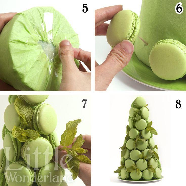 https://flic.kr/p/gbp2JS | Cómo hacer una torre de macarons / How to make a macaron tower | www.littlewonderland.es/2013/09/27/como-hacer-una-torre-d...