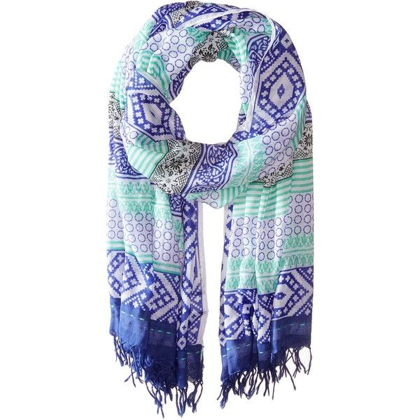 Prana Lahna Scarf (Sail Blue) Scarves ($31) ❤ liked on Polyvore featuring accessories, scarves, navy, prana, navy scarves, tassel scarves, patterned scarves and blue scarves