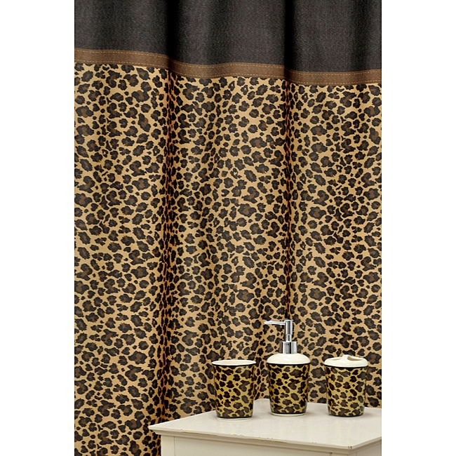 Leopard Brown Shower Curtain and Ceramic Bath Accessory 16-piece Set - Best 25+ Leopard Print Bathroom Ideas On Pinterest Cheetah Print