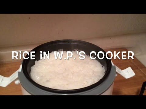 Rice in the Wolfgang Puck Rice cooker...really! - YouTube