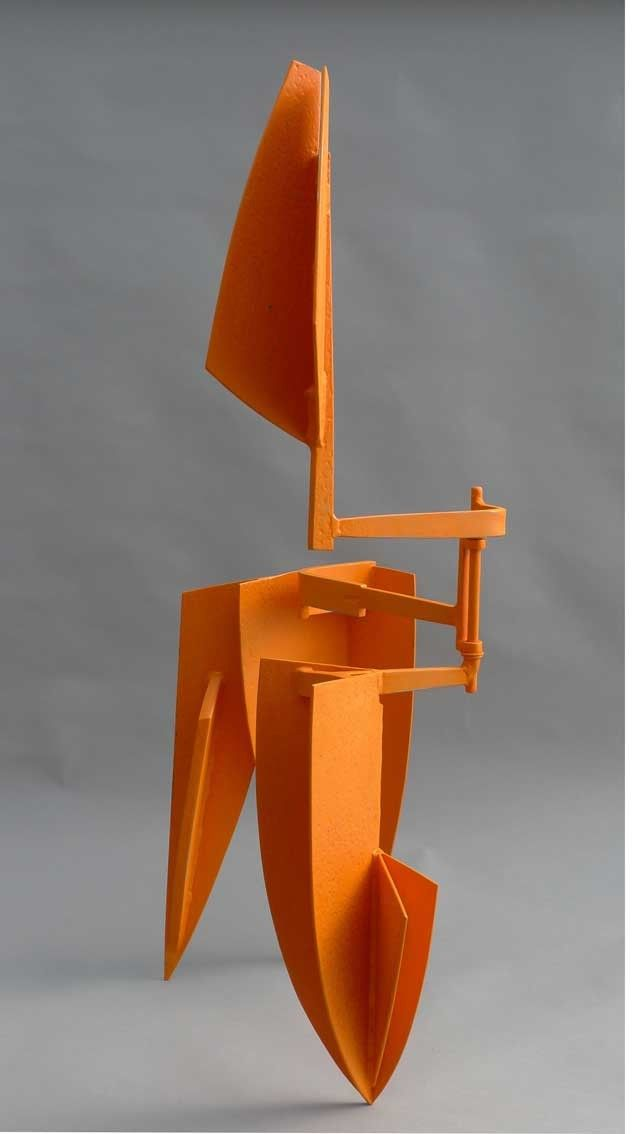 Signal - forged ,welded and painted steel -Simon Gaiger