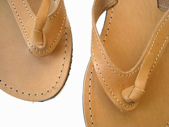 Womens sandals Leather flip flops Greek sandals by OhSoGreek