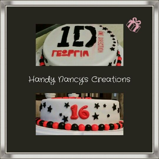 1Direction fondant birthday cake
