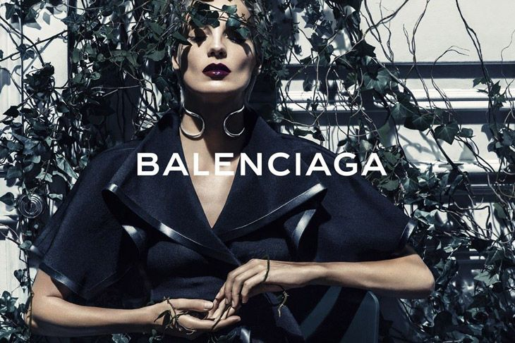 Daria Werbowy for the Balenciaga spring/summer 2014 ad campaign. Photographed by Steven Klein.