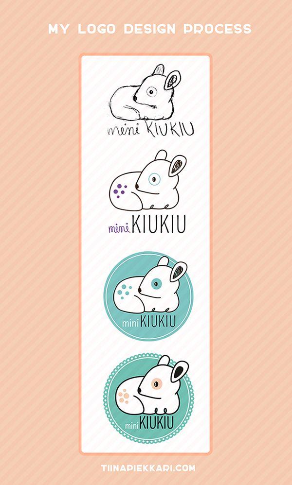 The design process (in brief) of one logo I designed. #logo #designprocess #cute #mint #deer
