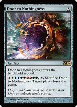 17 best ideas about magic the gathering on pinterest the for Door to nothingness deck