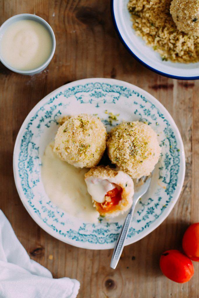 Marillenknödel Rezept mit Pistazie Apricot dumplings recipe Südtirol Aprikose Quarkknödel Zuckerzimtundliebe…