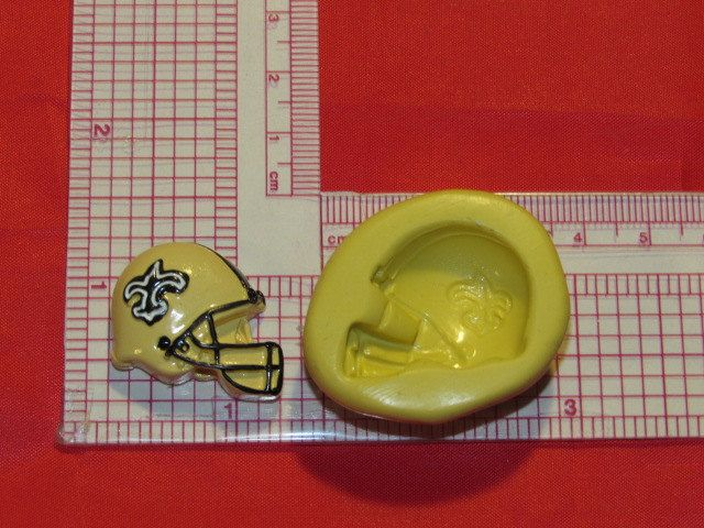 NFL Football New Orleans Saints Helmet Silicone Push Mold 935 Chocolate Candy Wax Soap by LobsterTailMolds on Etsy
