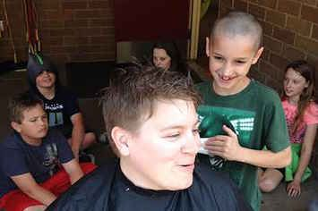After A Little Boy Was Teased For His Haircut, His Teacher Let Him Shave Her Head