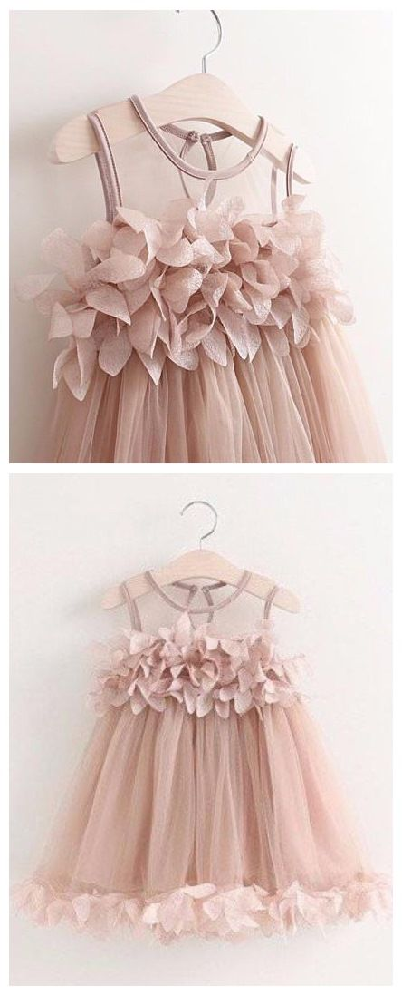 6a66448ccff Simple Applique Blush Pink Flower Girl Dresses Ankle Length ARD1313 ...