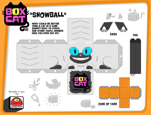 box cat-snowball