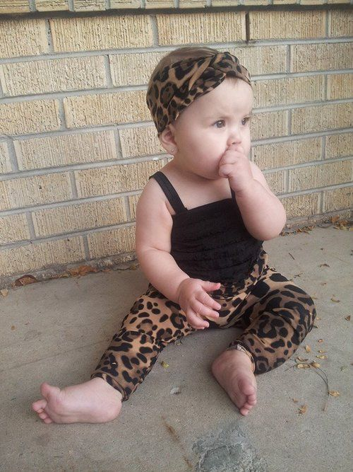 Leopard Baby Romper Baby Girls Fashion