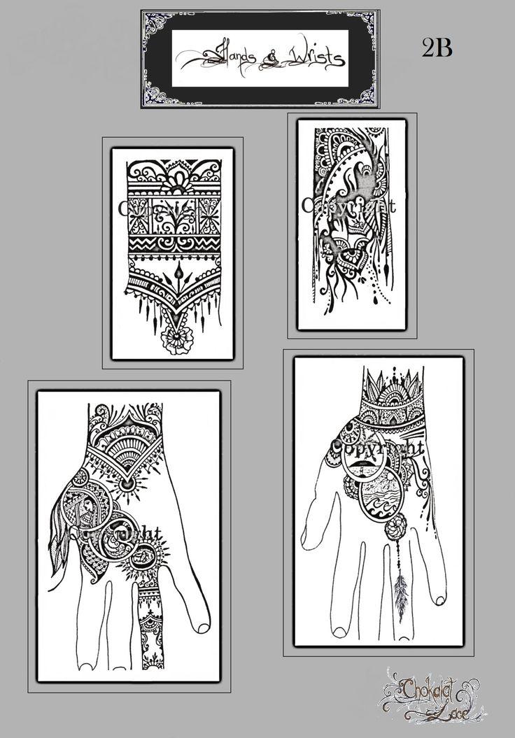 Hands wrists 2b jagua henna mehendi tattoo